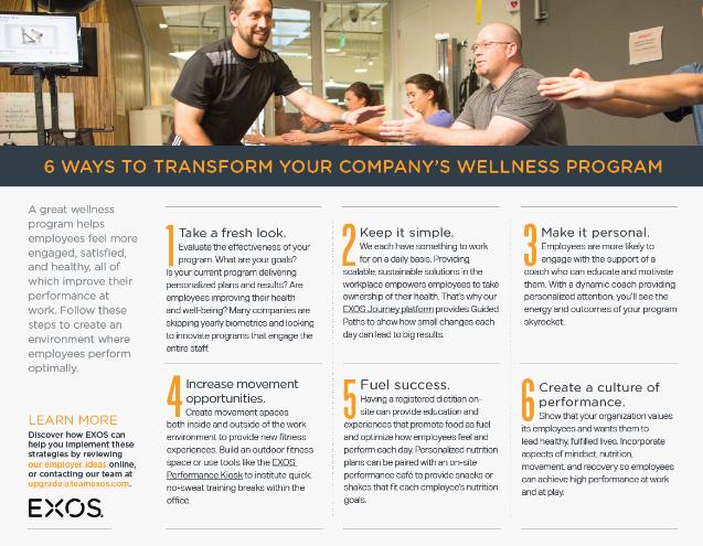 6 Tips to Upgrade Your Wellness Program